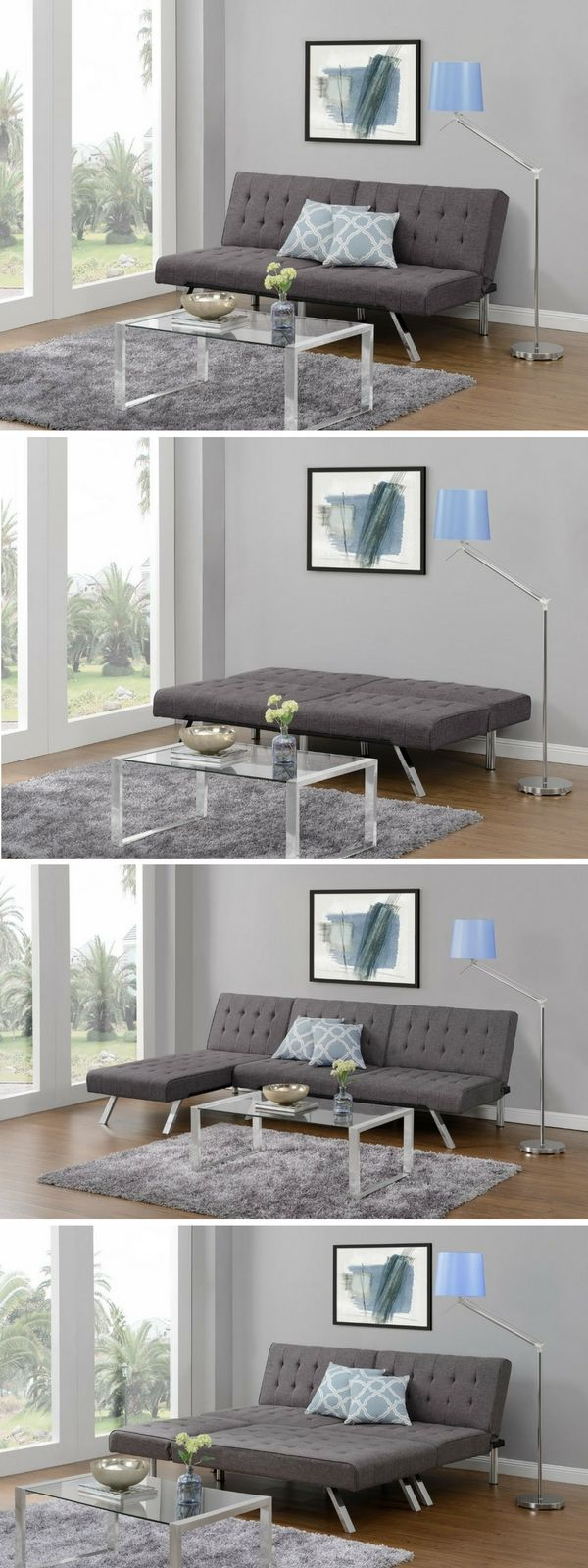 check out the dhp emily convertible linen futon istandarddesign more - Futon Bedroom Ideas