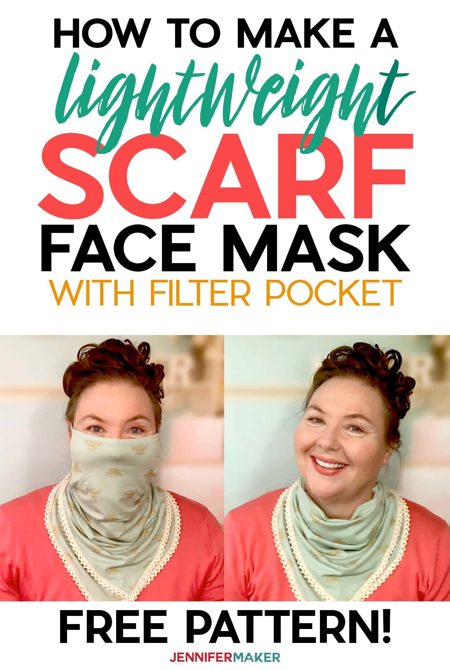Photo of Scarf Face Mask Pattern – Pretty & Stylish! – Jennifer Maker
