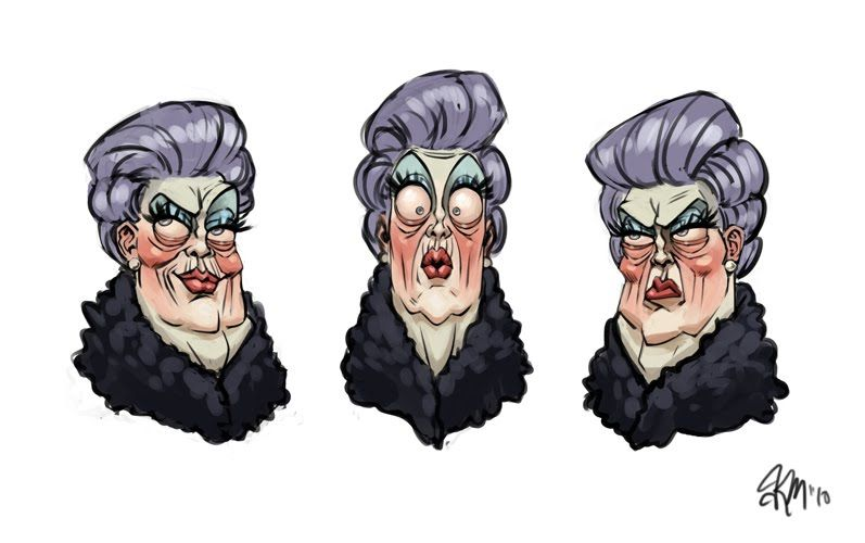 Characters And Concepts - A Work In Progress: Just a little old lady...