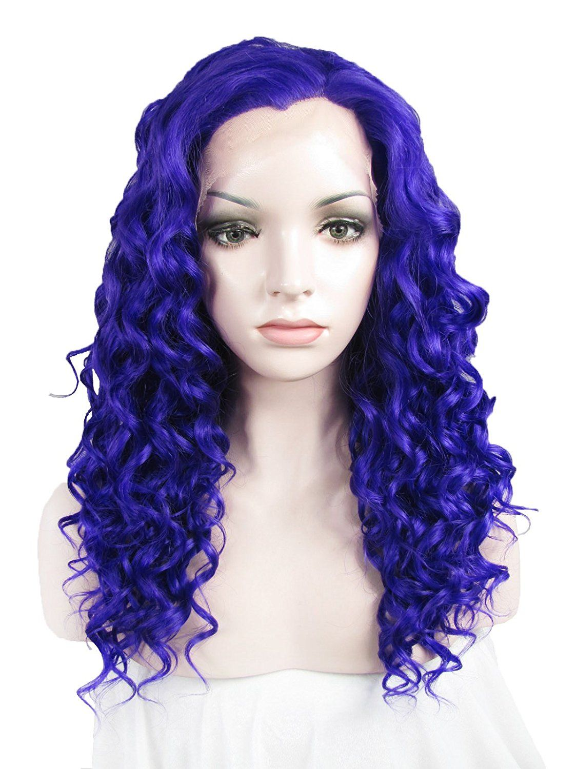 Imstyle Cosplay Party Wig Synthetic Short Curly Dark