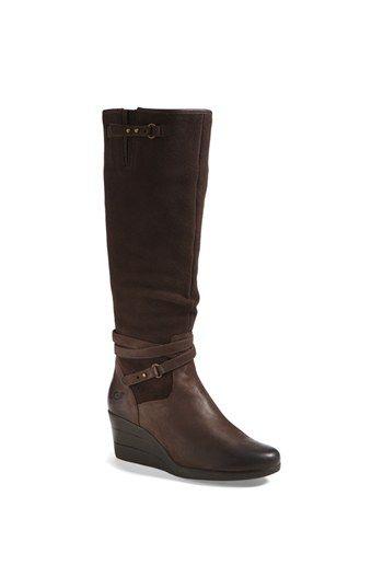 UGG® Australia 'Lesley' Waterproof Suede Wedge Knee High Boot (Women)  available