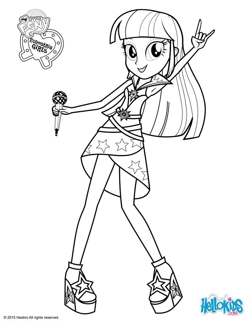 Twilight Sparkle Sings coloring page | Coloring | Pinterest ...