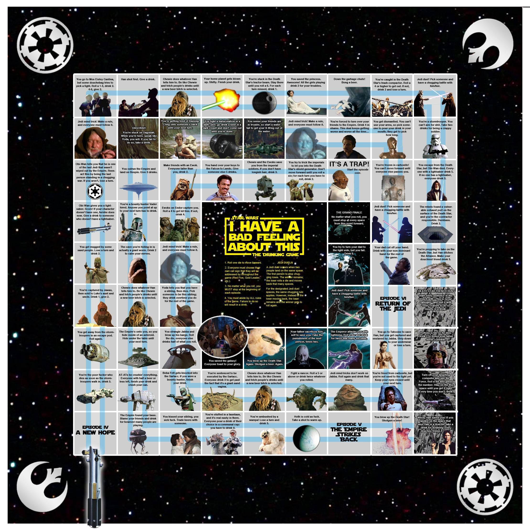 My First Post Ever I Present To You The Star Wars Drinking Game Trinkspiel