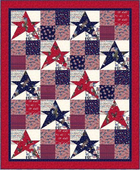 Free pattern day: Patriotic and flag quilts | 4th | Pinterest ... : free patriotic quilt patterns - Adamdwight.com