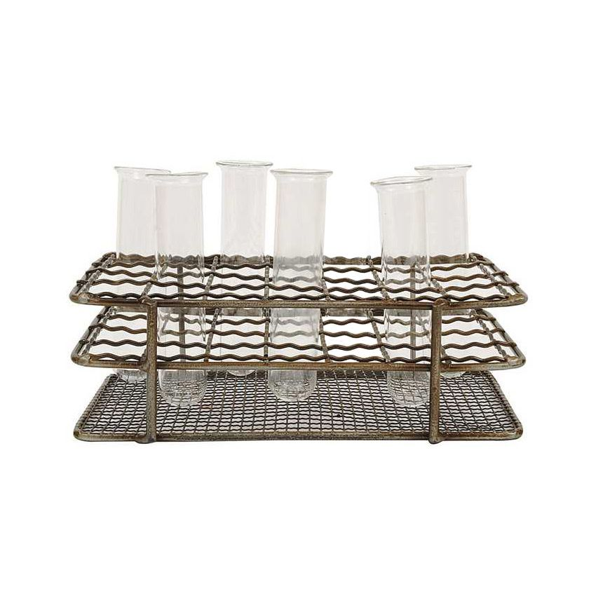 If our hypothesis proves right, you'll love this chic decorative set. The seven-piece Out of the Lab Set is perfect for anyone looking to experiment with the display of household flower arrangements or...  Find the 7-Pc. Out of the Lab Set, as seen in the The Industrial Botanist Collection at http://dotandbo.com/collections/the-industrial-botanist?utm_source=pinterest&utm_medium=organic&db_sku=107139