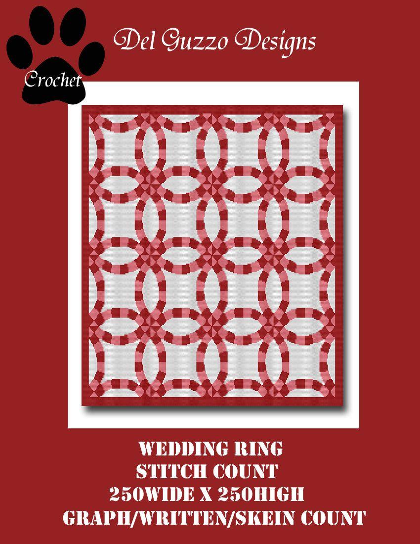 Wedding Ring Blanket Crochet Graph Pattern by DelGuzzoDesignStudio ...