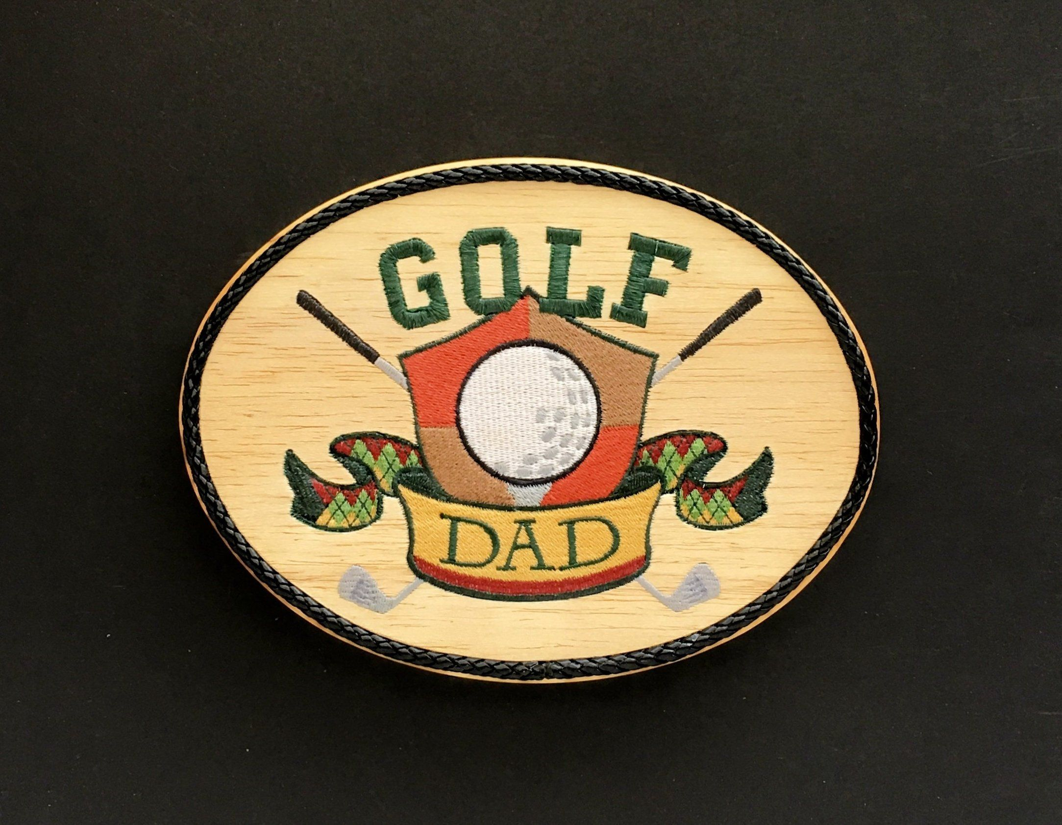 Wood Golf Sign, Embroidery Art on Balsa Wood, Golf Wall Decor for ...