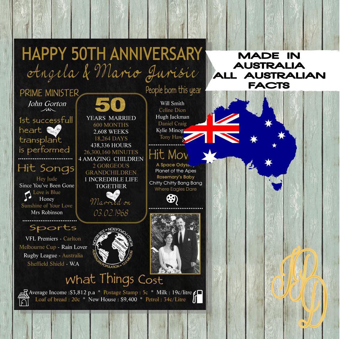 50 Year Anniversary Digital print; gift 50th Anniversary