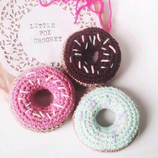 little fox crochet donuts!