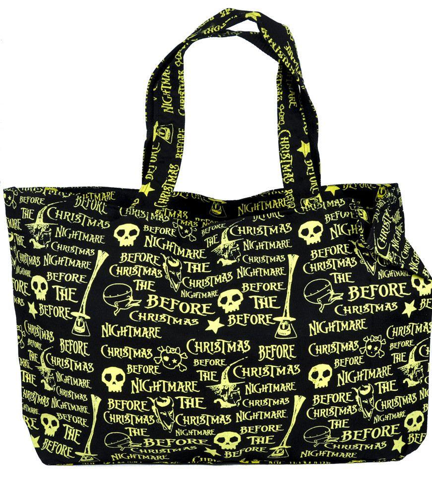 Large Nightmare Before Christmas Overnight Bag Purse Gothic Jack ...