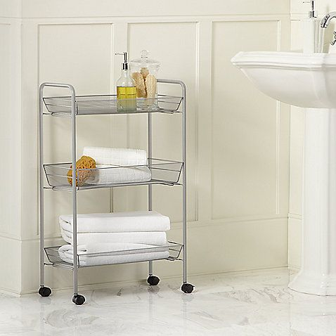 Three Tier Slim Bath Cart Perfect For Tiny Space In The Bathroom Between The Wall A Bathroom Furniture Storage Bed Bath And Beyond Bathroom Storage Solutions