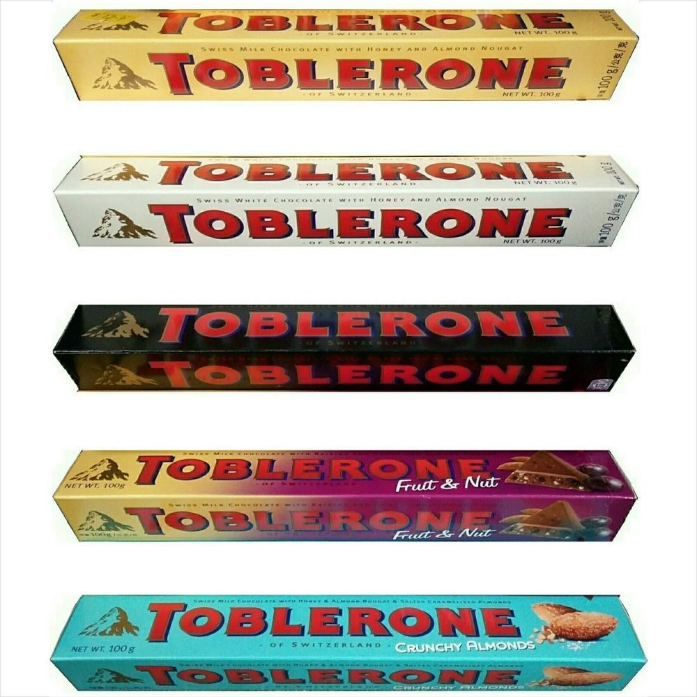 Details About Toblerone Swiss Chocolate With Honey Almond