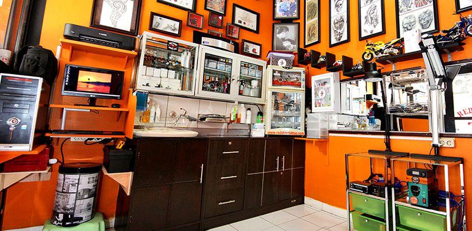 Inside tattoo shops