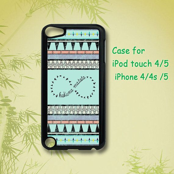 Hey, I found this really awesome Etsy listing at http://www.etsy.com/listing/130777418/aztec-hakuna-matata-ipod-5-case-ipod-4
