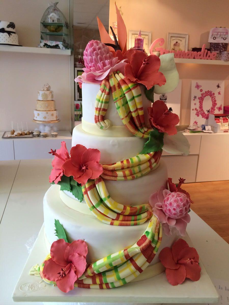 gateau mariage wedding cake fleur exotique 900 1200 wedding cake pinterest. Black Bedroom Furniture Sets. Home Design Ideas