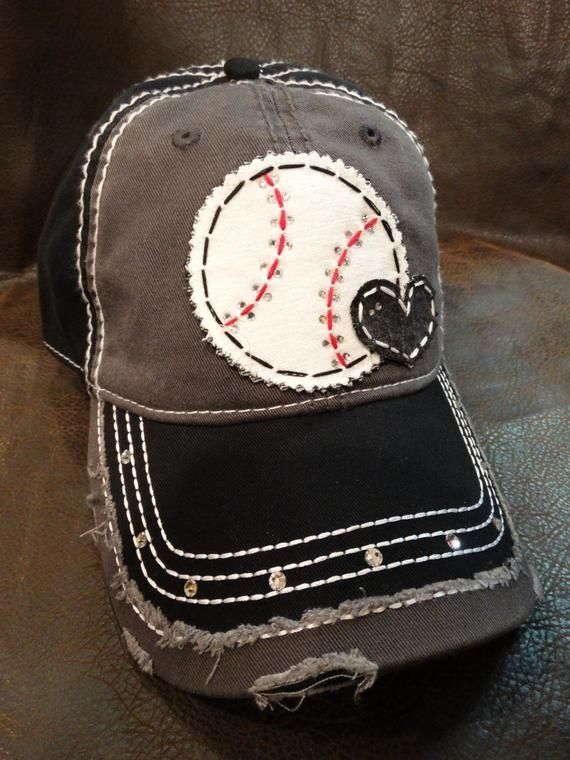 Photo of Baseball love distressed baseball hat-baseball mom hat-baseball heart hat-customizable By Blingirl Spirit