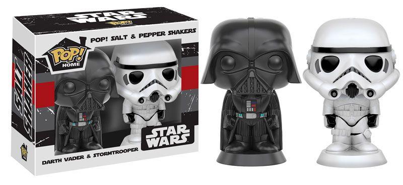 Star Wars Ceramic Salt /& Pepper Shakers Disney Darth Vader /& Stormtrooper NIB