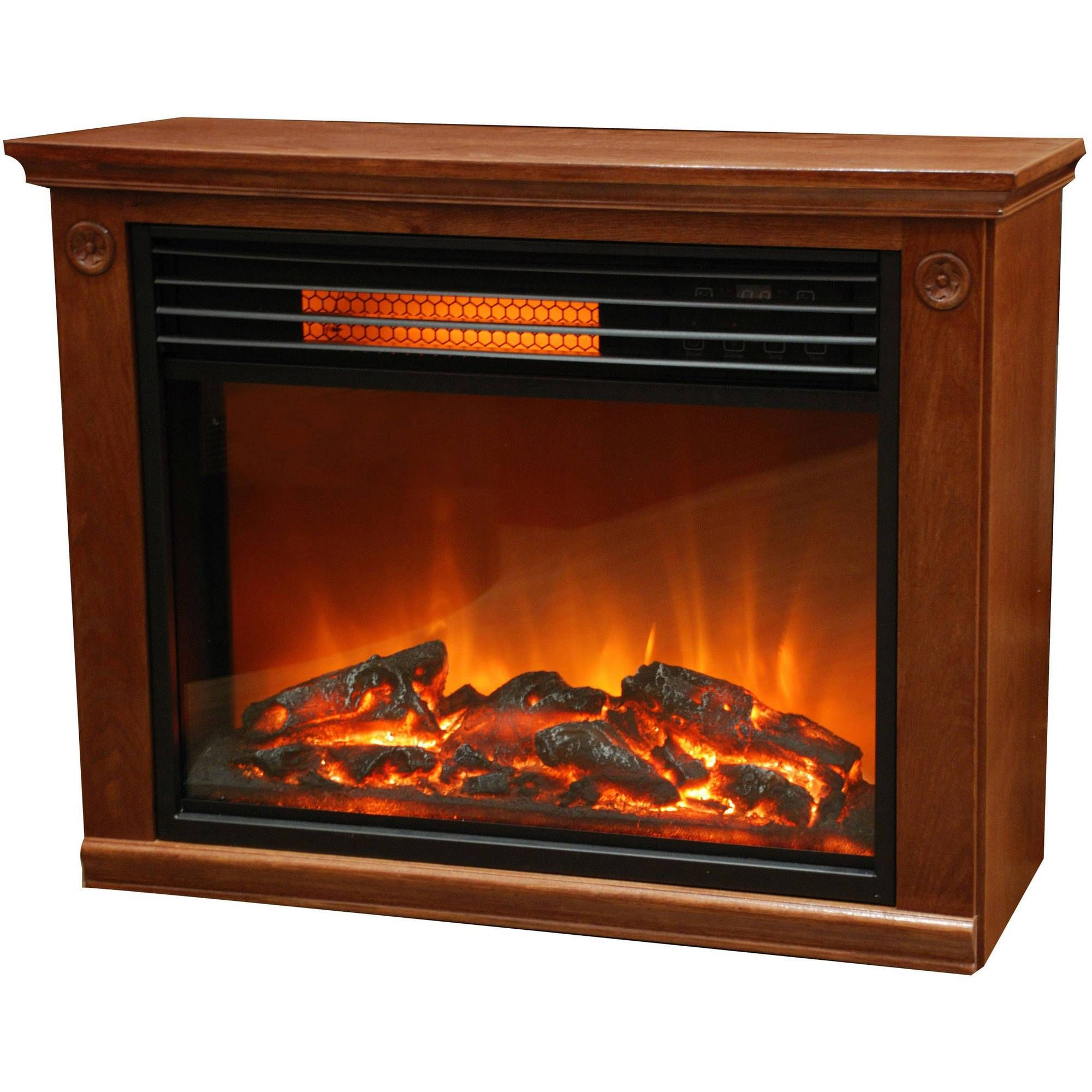 lifezone electric infrared fireplace heater oak infrared