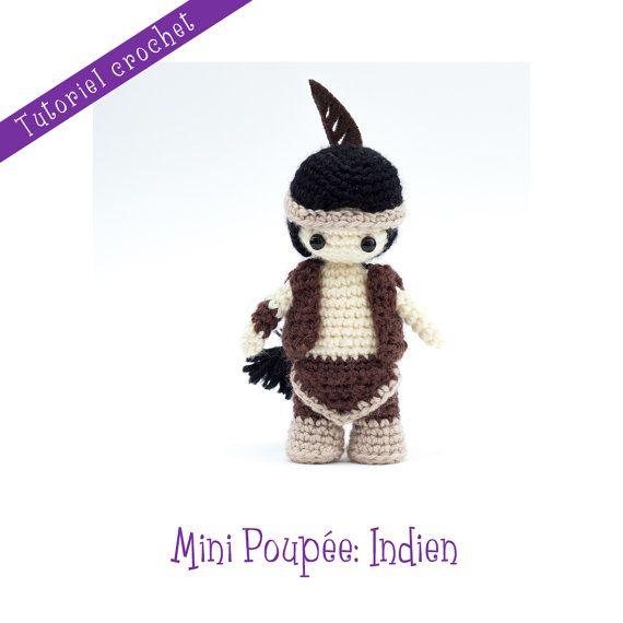 Crochet pattern: Mini doll Indian by LeRoyaumeDesEpingles on Etsy ...