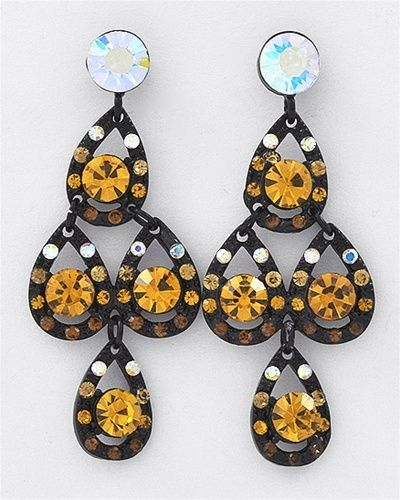 Luxe Beauty Supply - Black Nickel Topaz Rhinestones Post Earring Set  (http://www.lhboutique.com/black-nickel-topaz-rhinestones-post-earring-set/) #FashionJewelry, #LuxeBeautySupply, #FashionAccessories