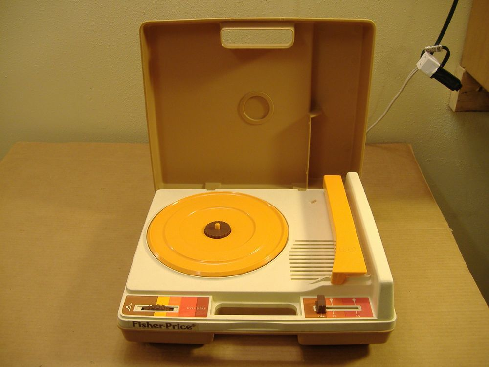 Vintage 1980's Fisher Price Record Player 33-1/3 LP's 45 RPM Plays Real Records #FisherPrice
