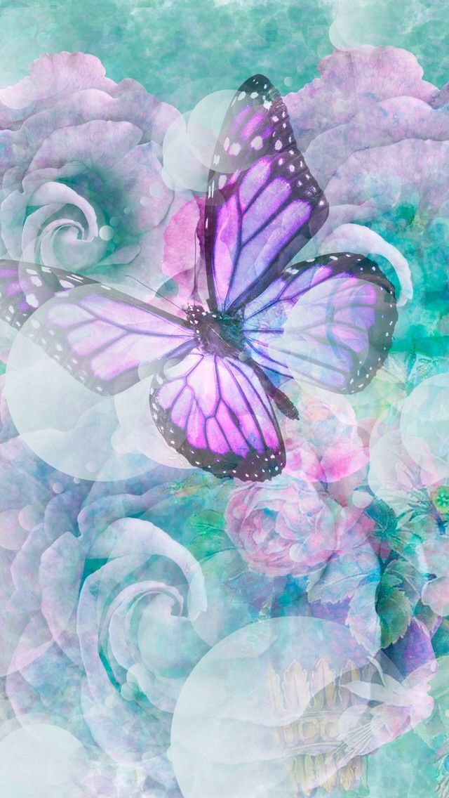 iPhone Wallpaper Butterfly, colors. http
