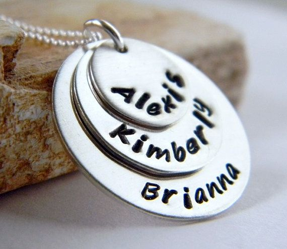 Personalized Layered Three Name Necklace Family by RosesDesigns, $48.00