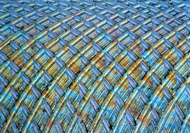 Surface of aluminum milling grooves | 2000 Photomicrography Competition | Nikon Small World