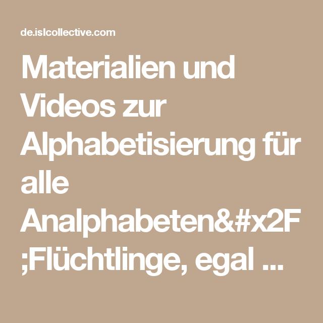 Materialien und Videos zur Alphabetisierung für alle Analphabeten ...