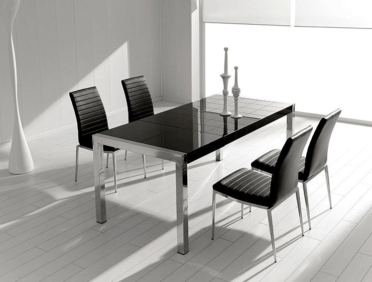 mesa de comedor pequena mery extensible material acero inox mesa extensible con patas en - Mesas De Comedor Pequeas