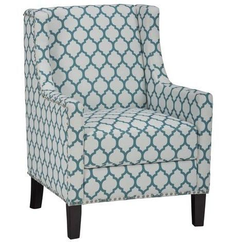 Best Aqua Blue Accent Chair Jeanie Collection Upholstered 400 x 300