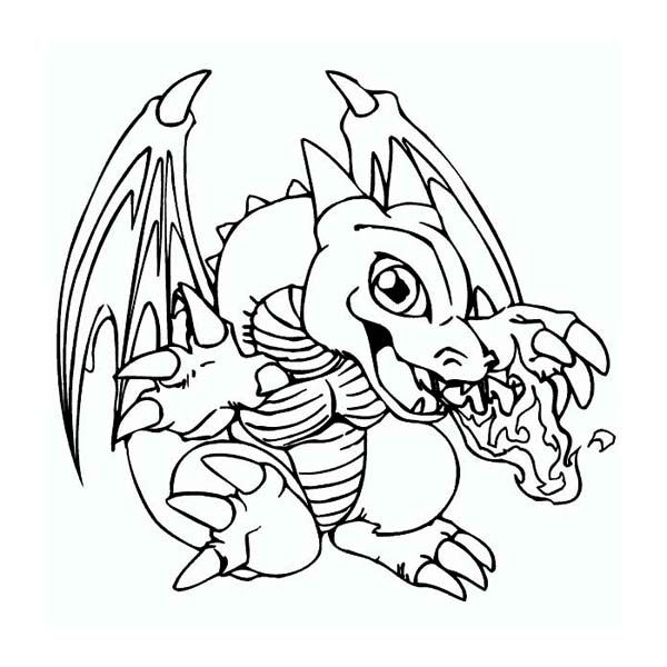 Baby Dragon Spits Fire Coloring Page Dragon Coloring Page Baby