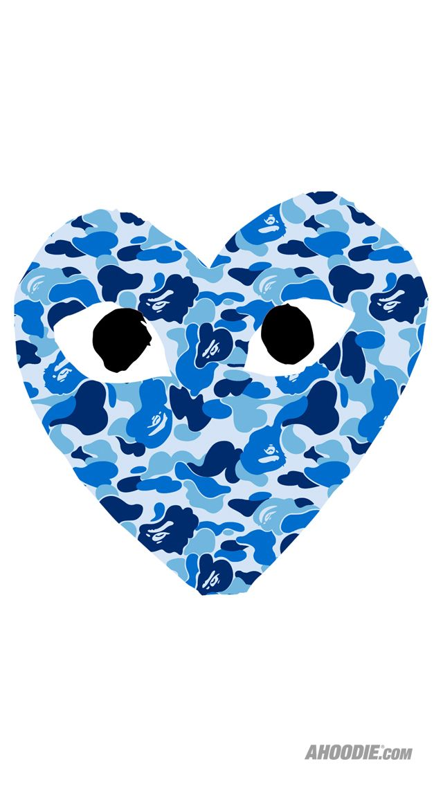 blue camouflage come de garson heart Camo wallpaper