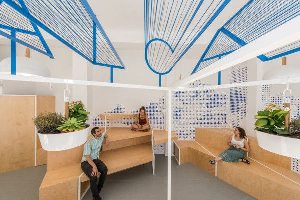 A Modern Tourist Office In Spain Featuring Cool Graphic Typography