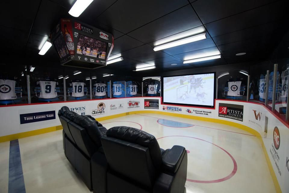 Ultimate Hockey Man Cave Who S Excited About Hockey Again Hockey Man Cave Hockey Room Man Cave Home Bar