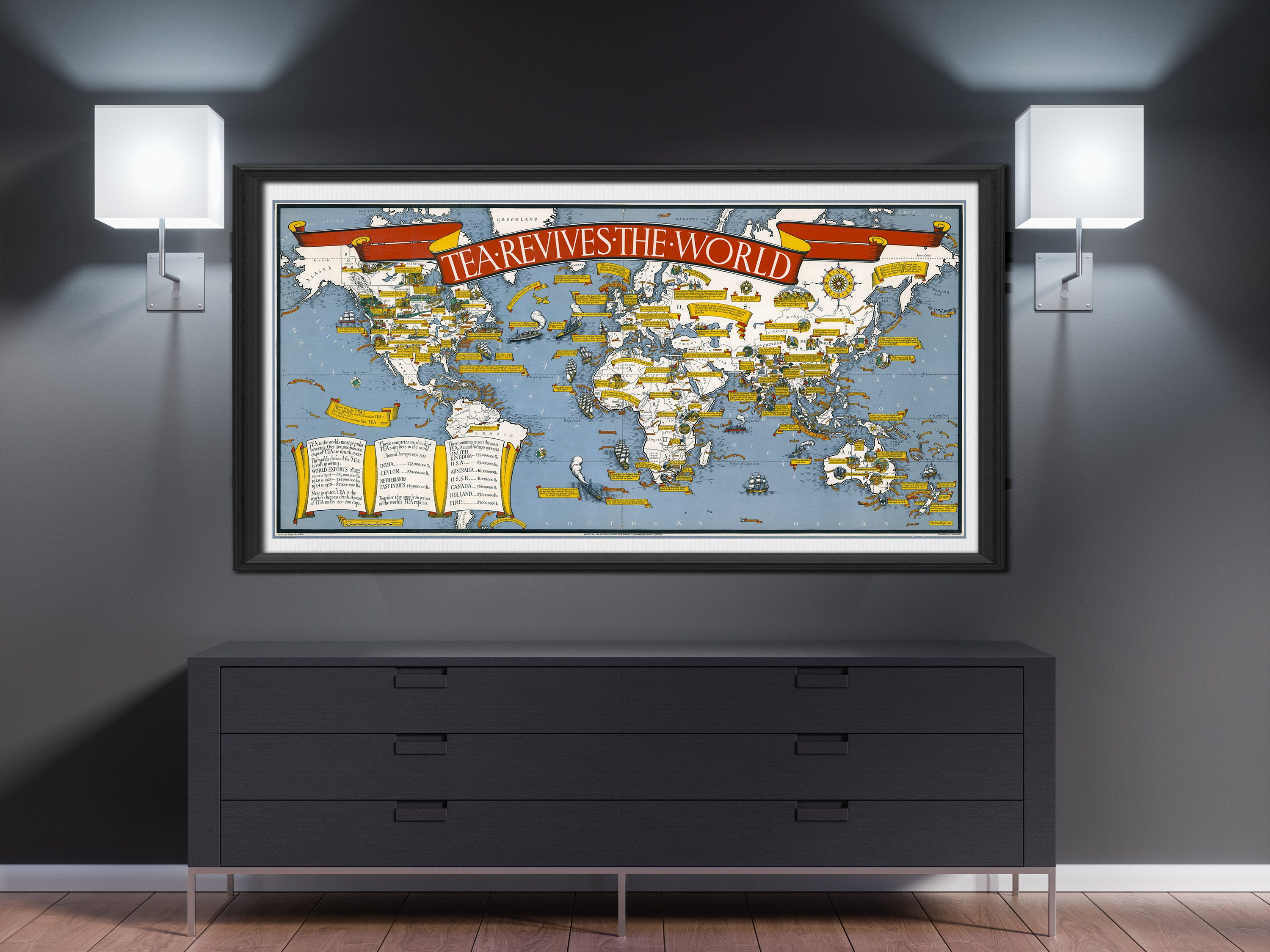 World map print tea revives the world world map poster world map world map print tea revives the world world map poster world map wall art old world map vintage world map world map room decor push pin gumiabroncs Images