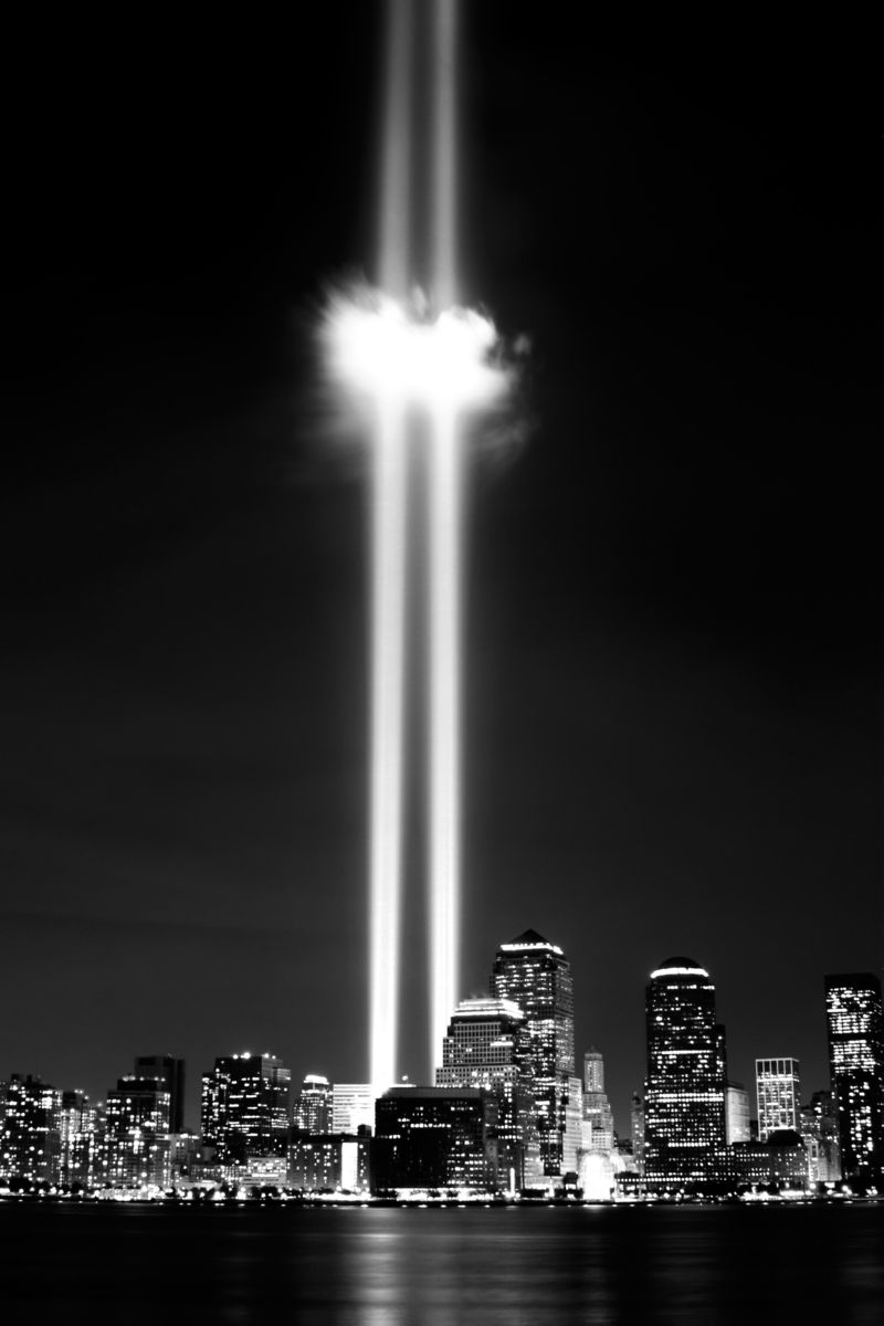 World Trade Center Memorial Lights By Jon C. Hodgson Http://photos.jonq.com/