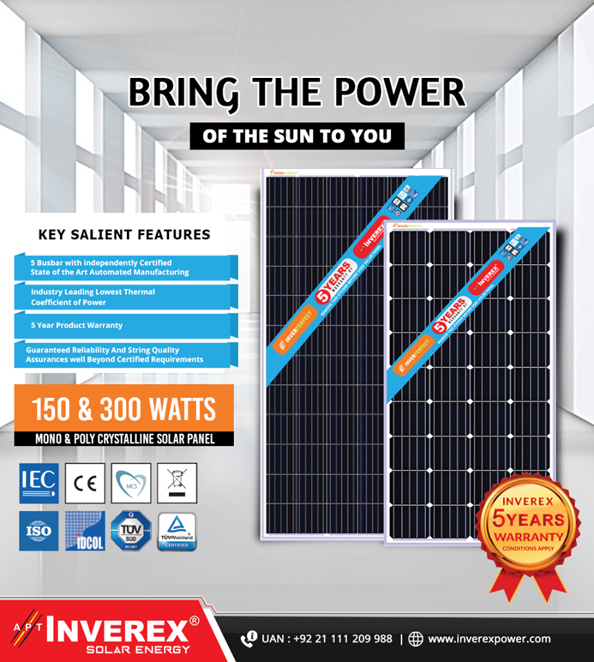 Inverex Introduces Perfect Cost Effective And High Efficiency Solar Panels Solar Panels Solar Energy Solar