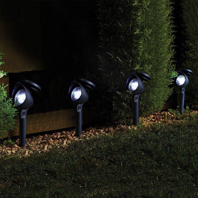 Smart Garden Prima Solar LED Spotlights - Set of 4 - Black - solarleuchten garten antik