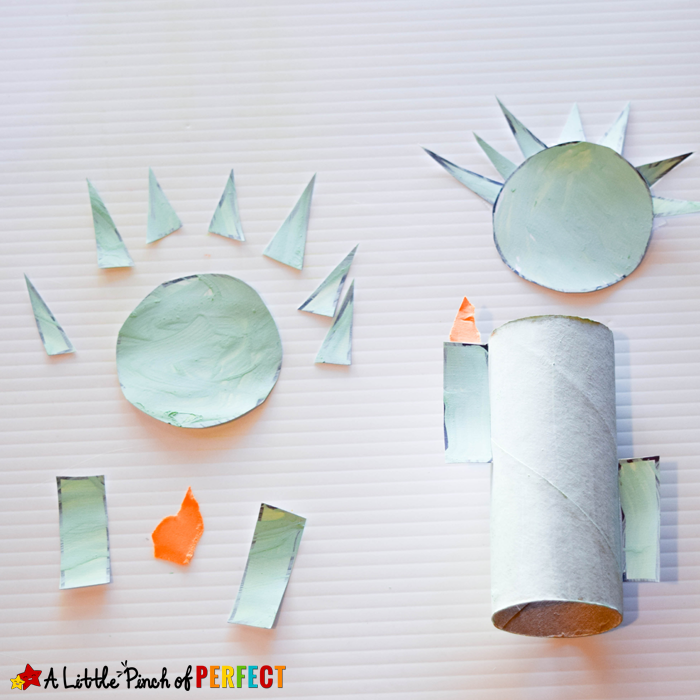 statue of liberty toilet paper roll craft and free template for 4th