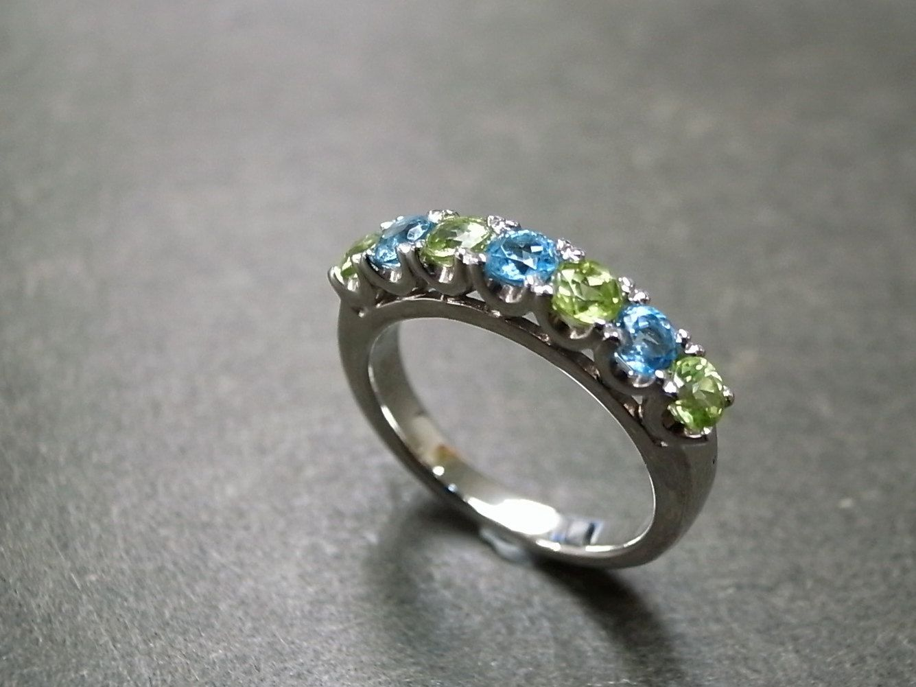 wedding jewelry engagement bands band botanical set flower silver pin peridot sterling nature ring rings