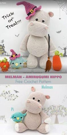 Melman - Amigurumi Hippo [Free Crochet Pattern] | 472x236