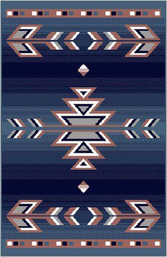 Home Dynamix Premium Native American Southwestern Area Rug Blue 2