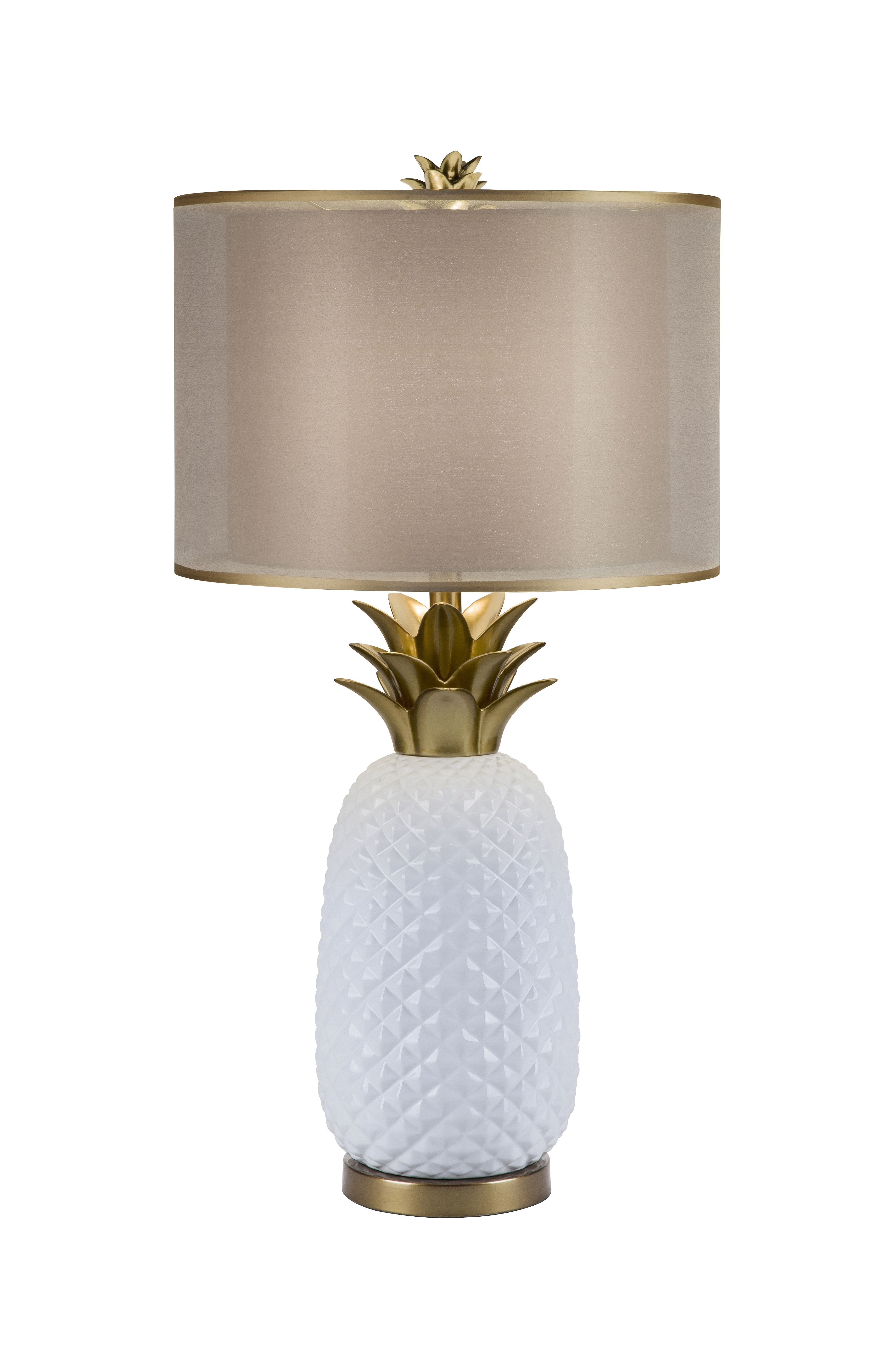 Tropical Light A Glamorous White Pineapple Accented With Striking