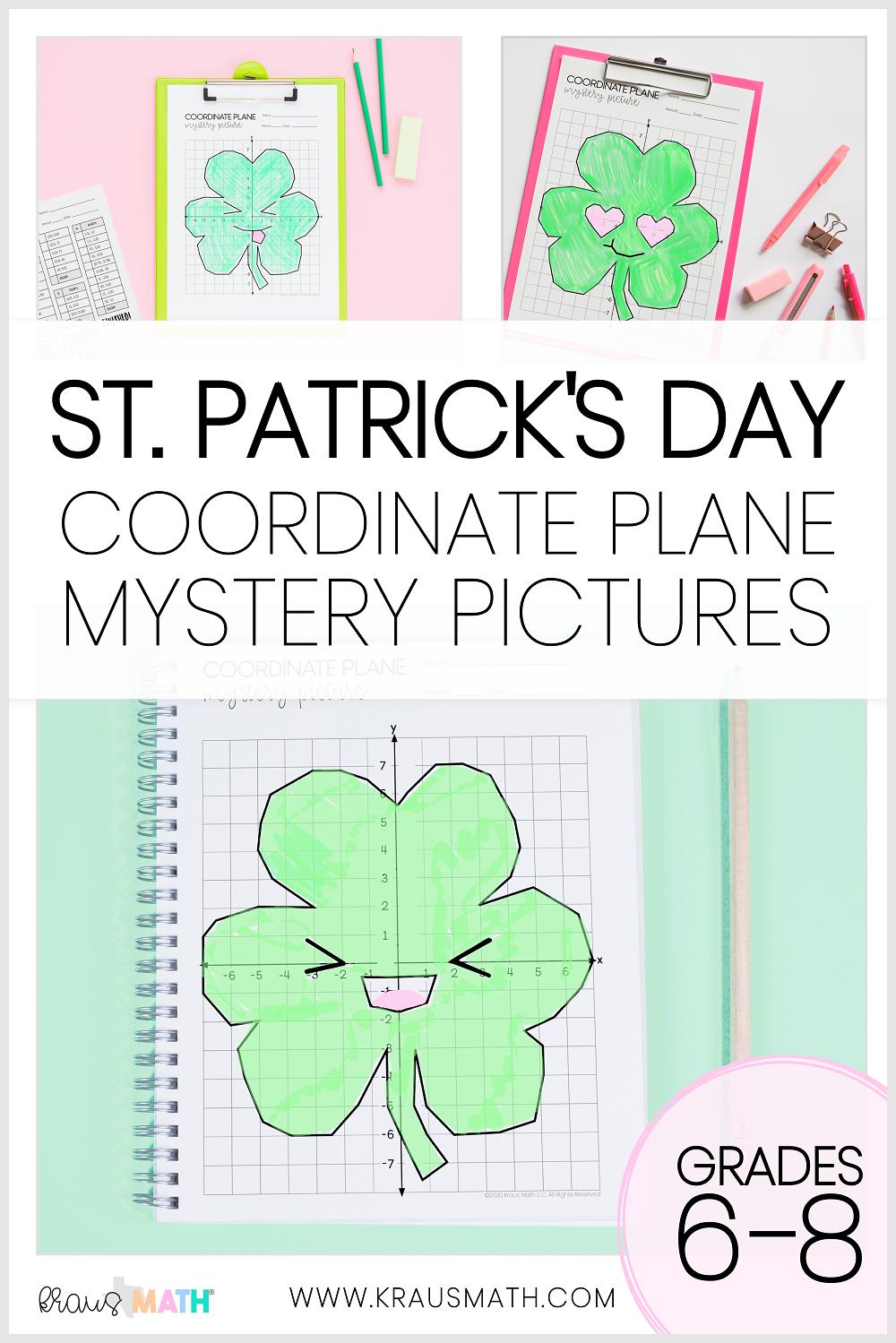 St Patrick S Day Coordinate Plane Mystery Picture Bundle 4 Quadrants Kraus Math Fun Math Activities Fun Math Mystery Pictures [ 1499 x 1000 Pixel ]