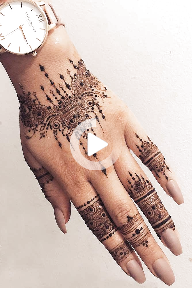 Arm Tattoo Design Made With Henna #armtattoo ★ Discover amazing simple and intricate henna tattoo designs and their meanings. Embellish your arm, leg, foot, other body parts. #hennatattoo #hennatattoodesign #hennatattoodesigns #tattooideas #tattoodesigns #tattooforwomen #hennatattoos #tattooideas