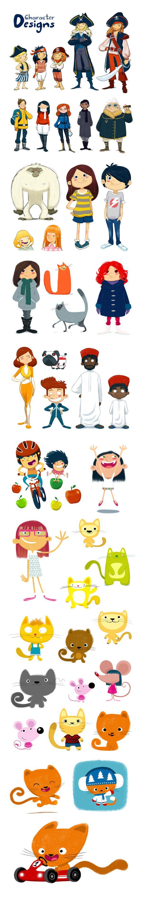 Character designs by oriol vidal, via Behance