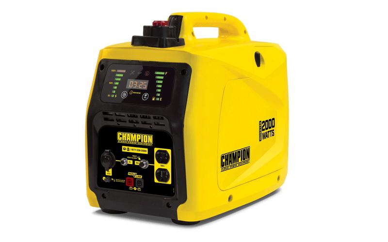 100306 Champion 2000 Watt Stackable Portable Inverter Generator Product Details Inverter Generator Portable Inverter Generator Rv Outlet
