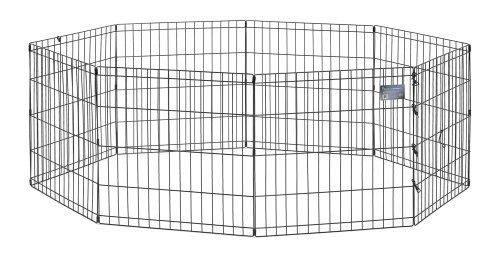38 17 80 49 Midwest Black E Coat Exercise Pen 24 Inches By 24 Inches Black E Coated Exercise Pen Is Made Of Durable Dog Playpen Pet Playpens Dog Exercise