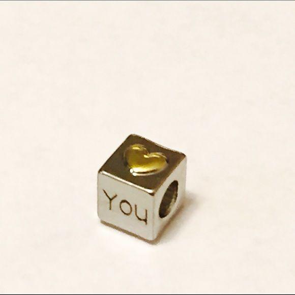 NWT I LOVE YOU SPACER CHARM  I LOVE YOU SPACER CHARM ( Fits Pandora) Pandora Jewelry Bracelets